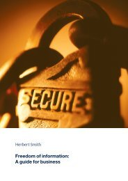 Freedom of information: A guide for business - Herbert Smith Freehills
