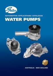 Automotive applications catalogue water pumps - Gates Corporation