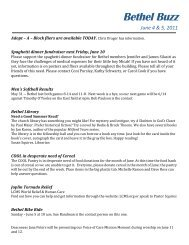Bethel Buzz June 4-5, 2011.pdf - Bethel Lutheran Church
