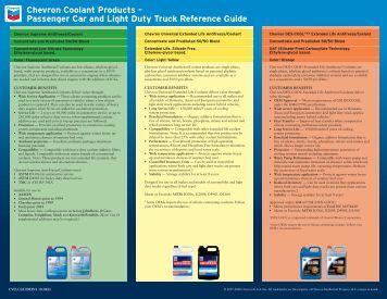 Chevron Coolant Reference Guide - CBS Parts Ltd.
