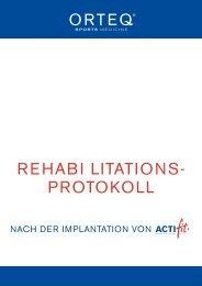 REHABI LITATIONS- PROTOKOLL - Actifit