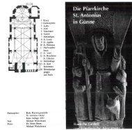 Page 1 Kath. Kirchengemeinde S1. Antonius Günne Erste Auflage ...