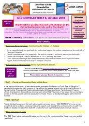 C4C NEWSLETTER # 8, October 2010 - WordPress – www ...
