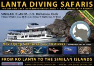 The Secrets of the Andaman Sea - Lanta Diving Safaris