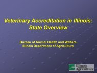 2013 State Veterinary Accreditation - Illinois Department of Agriculture