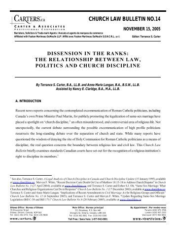 church and state law relationship