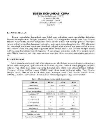 SISTEM KOMUNIKASI CDMA-fix.pdf - Teknik Elektro UGM