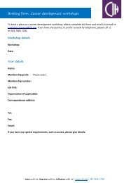 Booking form - Chartered Institute of Housing
