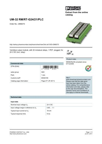 UM-32 RM/RT-G24/21/PLC - MRO Stop