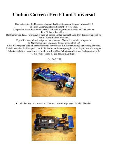 1 Mittel Schleifer für Carrera Universal Fahrzeuge