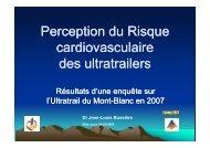 Perception du Risque cardiovasculaire des ultratrailers - Club des ...