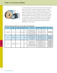 FCAW - Flux cored arc welding wires - BLUESHIELD