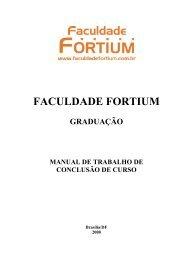 Manual de TCC - Faculdade Fortium