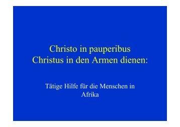 Vortrag von Dr. Bernhard Oehl, April 2005 - Togohilfe Leutesdorf eV