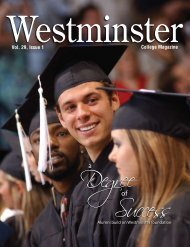 Vol. 29, Issue 1 College Magazine - Westminster College