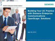 Siemens Enterprise Communications - UCStrategies.com