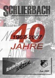 Jubiläumsheft - FSV Schlierbach