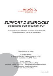 support d'exercices balisé - AcceDe PDF