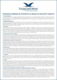 Condizioni di Contratto - I Viaggi dell'Airone