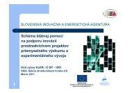 Prezentácia Výzva KaHR-13SP-1001.pdf - Slovenská inovačná a ...