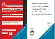 Supplication For World Future (Children'S Choir And Band)