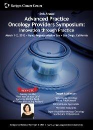 Advanced Practice Oncology Providers Symposium: - CANO-ACIO