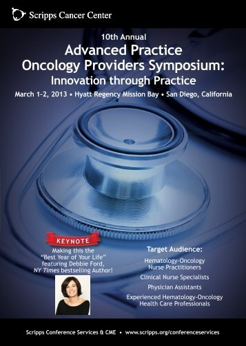 Advanced Practice Oncology Providers Symposium: - CANO-ACIO