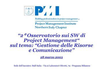 Gestione delle Risorse e Comunicazione - PMI-NIC