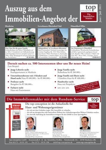 Auszug aus dem Immobilien-Angebot der Juni / Juli ... - top-conception