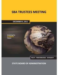 Agenda & Meeting Items - Florida State Board of Administration