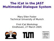 The iCat in the JAST Multimodal Dialogue System - Robotics and ...
