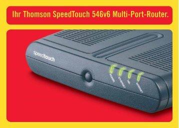 Richten Sie Ihre Ihr Thomson SpeedTouch 546v6 Multi-Port ... - DSL