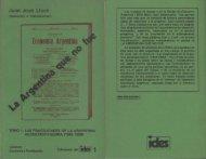 Ediciones del IDES Nº 1, La argentina que no fue