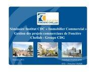 Gestion des projets commerciaux de Foncière Chellah - Institut CDG