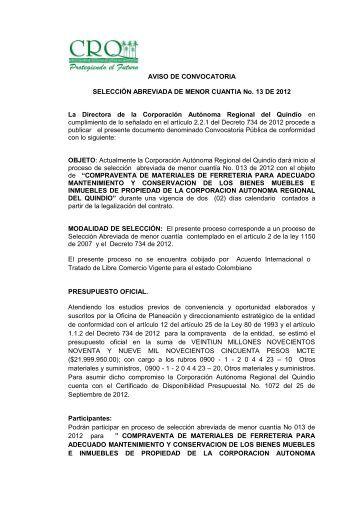 Descargue Aquí - Corporación Autónoma Regional Del Quindío