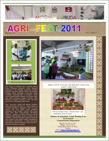 Read the Agri-fest Newsletter - Antigua & Barbuda