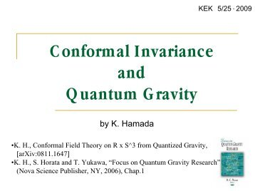 Conformal Invariance and Quantum Gravity