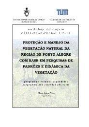 proteção e manejo da vegetação natural da região de porto alegre ...