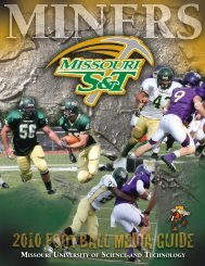 2010 Football Media Guide - Missouri S&T Athletics