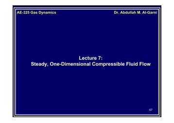 Steady, One-Dimensional Compressible Fluid Flow - KFUPM Open ...