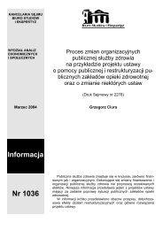 Proces zmian organizacyjnych publicznej służby zdrowia na ...