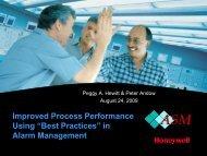 Best Practices in Alarm Mgt Presentation Aug2009 - ASM Consortium
