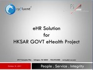 eHR Solution for HKSAR GOVT eHealth Project - Electronic Health ...