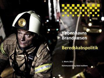 Københavns Brandvæsen Beredskabspolitik - primo