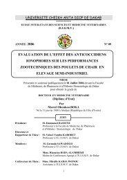 Evaluation de l'effet des anticoccidiens ionophores sur les ... - BEEP