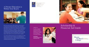 Scholarship and Financial Aid Brochure