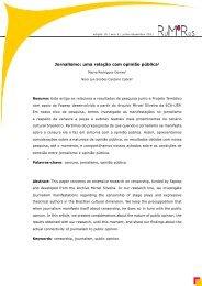 Jornalismo: uma relação com opinião pública1 - Revistas de Acesso ...