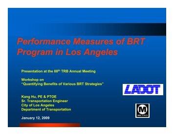 Performance Measures of BRT Program in Los Angeles - Bus Rapid ...