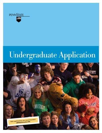 Undergraduate Application - Penn State Schuylkill - Penn State ...