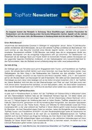 Newsletter vom 09.2.2011 - Top-Platz